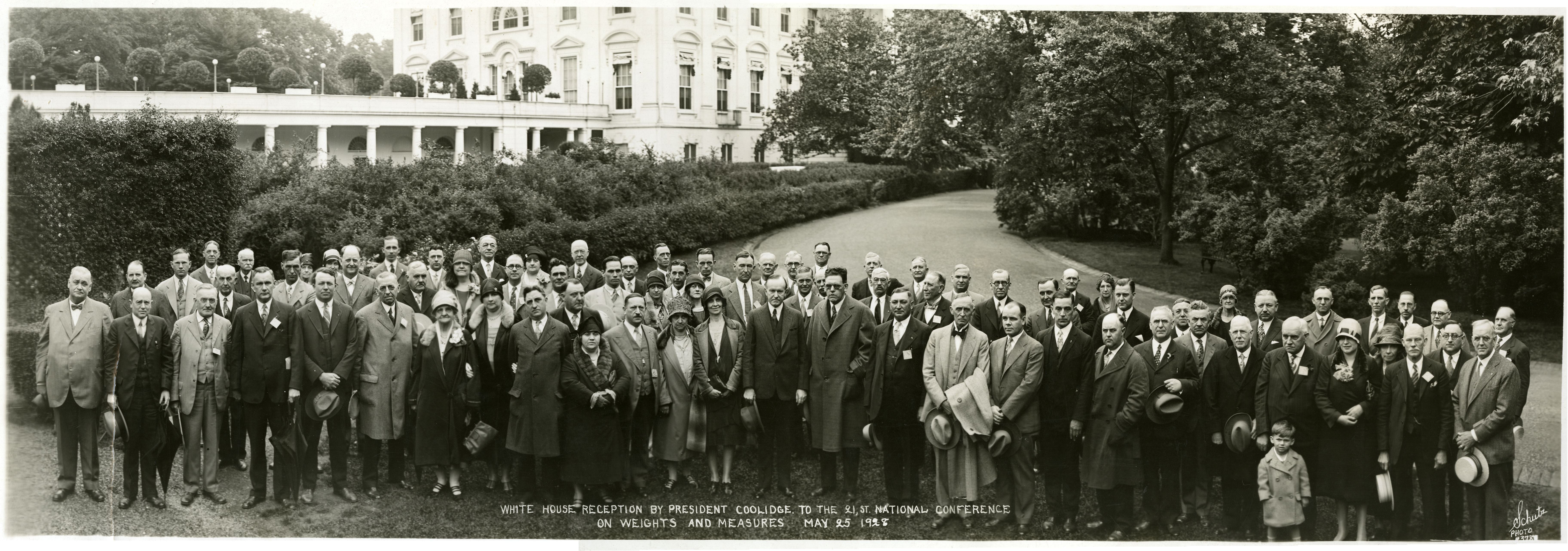 White House Reception by President Coolidge to the 21st National Conference on Weights and Measures